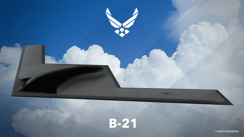 The first artist rendering of the B-21 Raider, released by the U.S. Air Force
