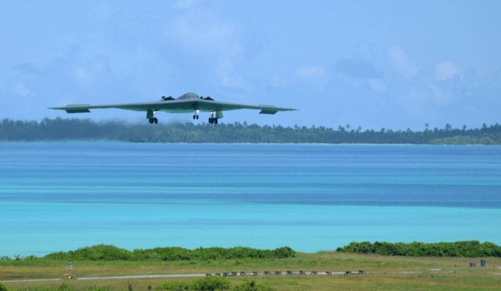 A B-2 Spirit from Whiteman Air Force Base, Mo.