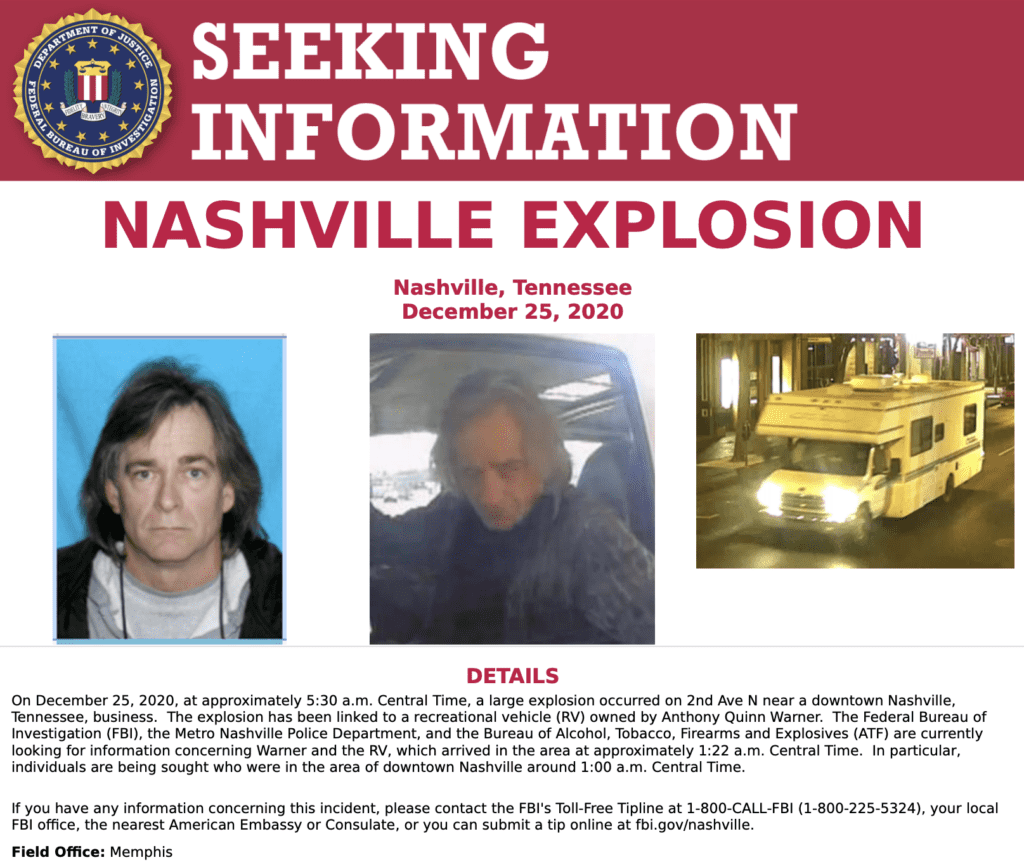 FBI Poster of Anthony Warner