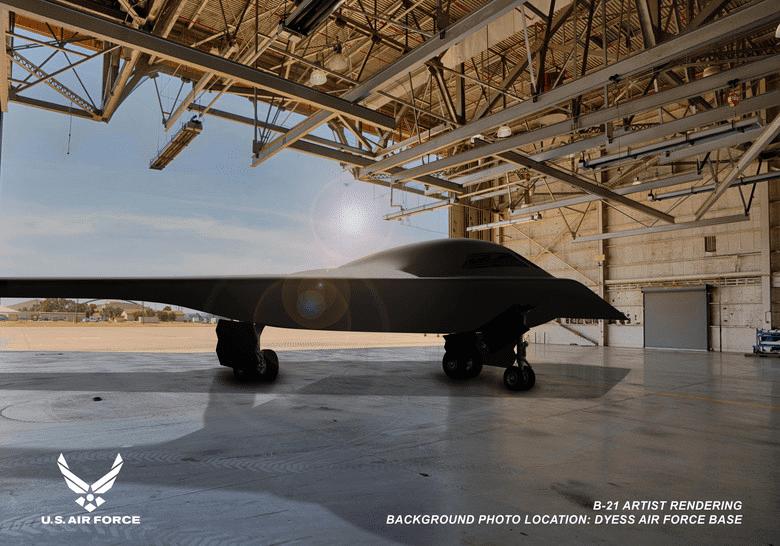 One of three artist renderings of the B-21 released by the U.S. Air Force and Northrop Grumman