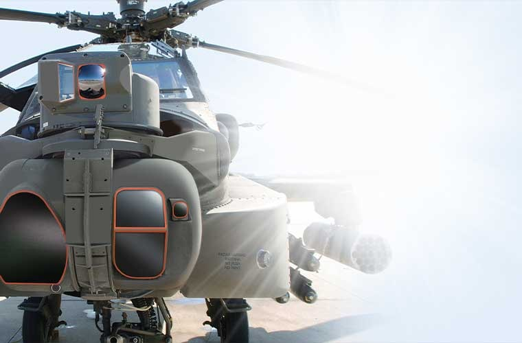 Lockheed-Martin's Modernized Target Acquisition Designation Sight/Pilot Night Vision system or M-TADS/PNVS.